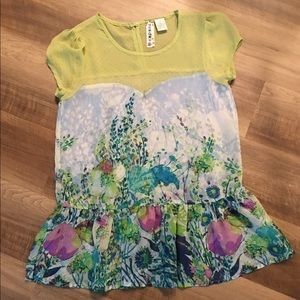 Mimi Chica Oversized Floral Top